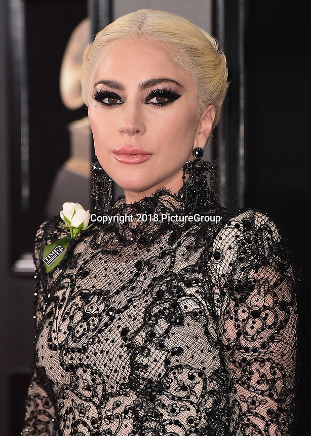 NEW YORK - JANUARY 28:  Lady Gaga at the 60th Annual Grammy Awards at Madison Square Garden on January 28, 2018 in New York City. (Photo by Scott Kirkland/PictureGroup)