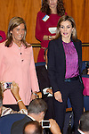 Health Minister Ana Mato, left, and Queen Letizia of Spain attends to XXV Anniversary of the Spanish National Transplant Organisation at Healing Ministry in Madrid. October 22, 2014. (ALTERPHOTOS/Caro Marin)