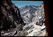 D&amp;RGW excursion train near Crystal Creek Bridge 9-7-47<br /> D&amp;RGW  Crystal Creek, CO  Taken by Maxwell, John W. - 9/7/1947