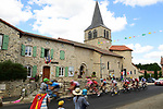 The large breakaway group speed by during Stage 9 of the 2019 Tour de France running 170.5km from Saint-Etienne to Brioude, France. 14th July 2019.<br /> Picture: ASO/Pauline Ballet | Cyclefile<br /> All photos usage must carry mandatory copyright credit (© Cyclefile | ASO/Pauline Ballet)