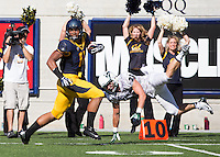 Saturday, September 7, 2013: Richard Rodgers runs for a touchdown after receiving the ball during a game against Portland State at Memorial Stadium, Berkeley, California -  California defeated Portland State 37 - 30