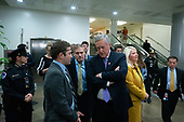 United States Representative Jim Jordan (Republican of Ohio) and United States Representative Mark Meadows (Republican of North Carolina) wait to speak to members of the media in the Senate Subway during a break in the impeachment trial of United States President Donald J. Trump at the United States Capitol in Washington D.C., U.S., on Monday, January 27, 2020.<br />  <br /> Credit: Stefani Reynolds / CNP