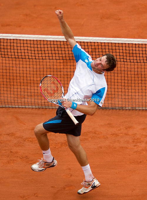 29-05-10, Tennis, France, Paris, Roland Garros, Teimuraz Gabashvili verslaat Roddick