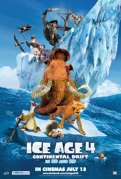 POSTER ART.in Ice Age: Continental Drift.4.*Filmstill - Editorial Use Only*.CAP/NFS.Supplied by Capital Pictures.