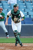 "University of South Florida Daniel Rockhold #18 during a game vs. the Miami Hurricanes in the ""Florida Four"" at George M. Steinbrenner Field in Tampa, Florida;  March 1, 2011.  USF defeated Miami 4-2.  Photo By Mike Janes/Four Seam Images"