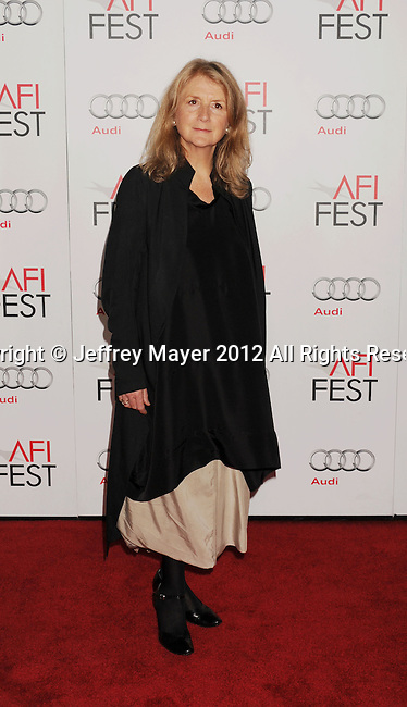 HOLLYWOOD, CA - NOVEMBER 07: Sally Potter arrives at the 'Ginger And Rosa' special screening during AFI Fest 2012 at Grauman's Chinese Theatre on November 7, 2012 in Hollywood, California.