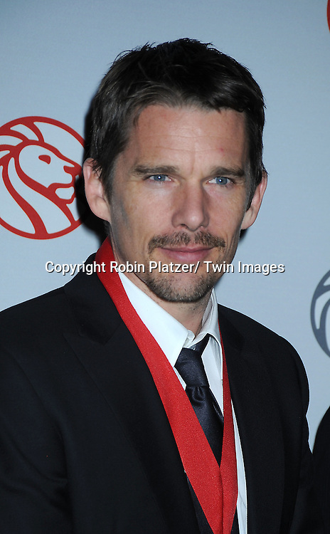 Ethan Hawke attending The New York Public Library honors the 2010 Library Lions including, Malcolm Gladwell, Ethan Hawke, Paul LeClerc, Steve Martin and Zadie Smith on November 1, 2010 at The New York Public Library on Fifth Avenue and 42nd Street.