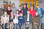 MEAL: The Family and friends from Ballyferriter and Dingle brought  Cathal Ferriter, Annascaul, who made his confirmation on Thursday in Annascaul Church, the family and friends brought him for a meal in Bella Bia Tralee. Front l-r: Mary Ann Griffin, Carrie Ferriter, Padraig Ferriter, Cathal Ferrirter , Piaras Ferriter and Siobhan Fahy Back l-r: Paddy, Siobhan and Chris Griffin, Ciara Ferriter, Mairie Devane, Mossie and Paggy Flahive and Shane Ferriter.....