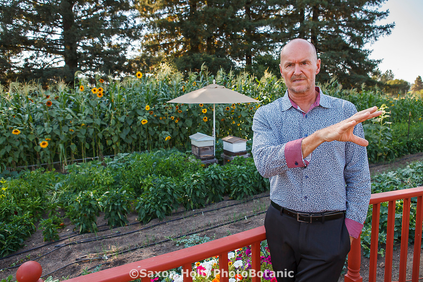 Tony Fisher, director of Community Garden project at Healdsburg Senior Living Center