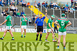 Referee Diarmuid Kirwin of Cork in action in the Ballyduff v Crotta O'Neills encounter in the Senior Hurling Championship 1st round game in Austin Stack Park on Saturday.