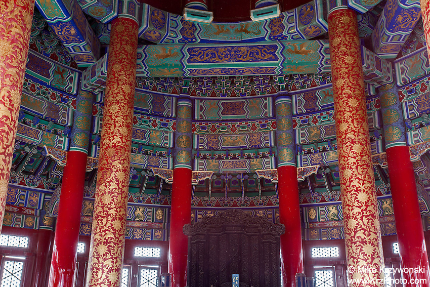Interior of the Temple of Heaven, Beijing, China