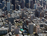 aerial photograph Nob Hill residential neighborhood San Francisco California