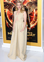 LOS ANGELES, CA, USA - NOVEMBER 17: Natalie Dormer arrives at the Los Angeles Premiere Of Lionsgate's 'The Hunger Games: Mockingjay, Part 1' held at Nokia Theatre L.A. Live on November 17, 2014 in Los Angeles, California, United States. (Photo by Xavier Collin/Celebrity Monitor)