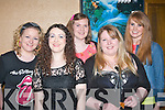 Mid Kerry Macra Na Feirme organised an 80's music night in the Grand hotel, Denny St, Tralee last Saturday, and enjoying the fun were l-r: Maria McCarthy, Georgina Hannon, Louise Flynn, Mairead Corcoran and AnnMarie Flynn.