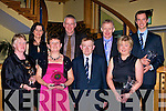 AWARDS: Members of St Pats Blennerville GAA Club who were awarded with special awards at their social in the Brandon Hotel, Tralee on Saturday night by Chairman Jimmy Mulligan.  Ann Eager, Una Lynch, Jimmy Mulligan, Kathleen Poff ((Hall of Fame), Jimmy Savage (Club Ticket Seller), Michael Greaney (Club Sec), Aisling Moriarty and Michael Sayers......................