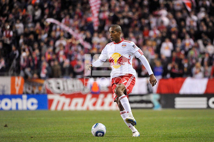 Roy Miller (7) of the New York Red Bulls. The New York Red Bulls defeated the Seattle Sounders 1-0 during a Major League Soccer (MLS) match at Red Bull Arena in Harrison, NJ, on March 19, 2011.