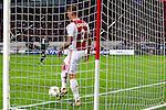 Nederland, Amsterdam, 3 oktober  2012.Seizoen 2012-2013.Champions League.Ajax_Real Madrid.Toby Alderweireld van Ajax baalt en schopt de bal uit het doel