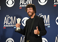 LAS VEGAS, NEVADA - APRIL 07: Chris Janson poses in the press room during the 54th Academy Of Country Music Awards at MGM Grand Hotel &amp; Casino on April 07, 2019 in Las Vegas, Nevada.  <br /> CAP/MPIIS<br /> &copy;MPIIS/Capital Pictures