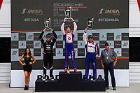 Race 1, GT3 USA Platinum Podium, #79 Mark Motors Racing, Porsche 991 / 2019, GT3CP: Roman DeAngelis, #16 Policaro Motorsport, Porsche 991 / 2018, GT3CP: Jeff Kingsley, #99 Kelly-Moss/AM Motorsports, Porsche 991 / 2019, GT3CP: Alan Metni (M)