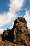 Vertical rock formation at Craters of the Moon National Preserve.