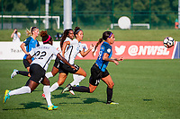Kansas City, MO - Sunday September 3, 2017: Sydney Leroux Dwyer, Dominique Richardson, Mandy Freeman during a regular season National Women's Soccer League (NWSL) match between FC Kansas City and Sky Blue FC at Children's Mercy Victory Field.