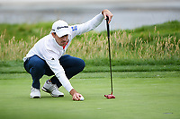 Nick Taylor (CAN) lines up his putt on 17 during round 4 of the 2019 US Open, Pebble Beach Golf Links, Monterrey, California, USA. 6/16/2019.<br /> Picture: Golffile | Ken Murray<br /> <br /> All photo usage must carry mandatory copyright credit (© Golffile | Ken Murray)