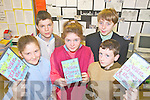 HISTORY: Pupils at Ardfert NS who have launched a new DVD on the history of Ardfert as part of a Junior Entrpreneur Programme, l-r: Nessa McGarty, Kate Austen O'Sullivan, Killian Dalton. Back l-r: Adrian Nolan, John Crowley.