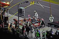 Tony Stewart (#14) makes a pit stop.