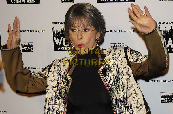 RITA MORENO.59th Annual Writers Guild Awards at the Hudson Theater, New York, New York ,USA..February 11th, 2007.half length gold jacket hands funny face .CAP/ADM/BL.©Bill Lyons/AdMedia/Capital Pictures *** Local Caption ***