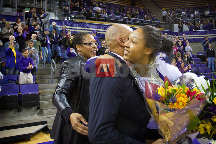 Lauren Barfield, senior night, UW Volleyball vs. Cal. Photo by Rob Sumner / Red Box Pictures.