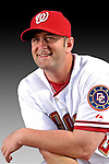 25 February 2007: Washington Nationals catcher Brian Schneider poses for his Photo Day portrait at Space Coast Stadium in Viera, Florida.<br /> <br /> Mandatory Photo Credit: Ed Wolfstein Photo<br /> <br /> Note: This image is available in a RAW (NEF) File Format - contact Photographer.