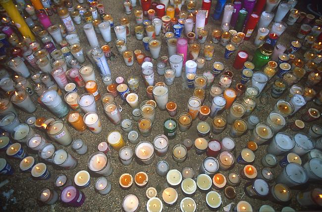 Votive Candles, Oaxaca City, Oaxaca, Mexico