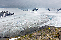 Tent camp near the Harding Ice Field, Kenai Fjords National Park, southcentral, Alaska.