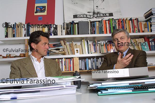 Milano,Marco Bassetti con Aldo Grasso