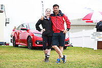 """AUS-Shane Rose and his """"Wife"""": during the Wife Carrying Competiton. 2016 NZL-Puhinui International 3 Day Event. Puhinui Reserve, Auckland. Saturday 10 December. Copyright Photo: Libby Law Photography"""