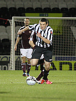 John McGinn on the ball in the St Mirren v Heart of Midlothian Clydesdale Bank Scottish Premier League U20 match played at St Mirren Park, Paisley on 6.11.12.