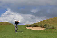Ronan Mullarney (Galway) on the 2nd fairway during the Final of the AIG Irish Amateur Close Championship 2019 in Ballybunion Golf Club, Ballybunion, Co. Kerry on Wednesday 7th August 2019.<br /> <br /> Picture:  Thos Caffrey / www.golffile.ie<br /> <br /> All photos usage must carry mandatory copyright credit (© Golffile | Thos Caffrey)
