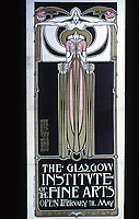 H. McNair & M. & F. Macdonald: Hunterian Art Gallery, U. of Glascow. Glasgow Institute Poster c. 1896.