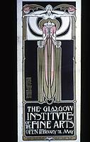 H. McNair & M. & F. Macdonald: Hunterian Art Gallery, U. of Glascow. Glasgow Institute Poster c. 1896.