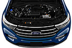 Car Stock 2020 Ford Explorer XLT 5 Door SUV Engine  high angle detail view