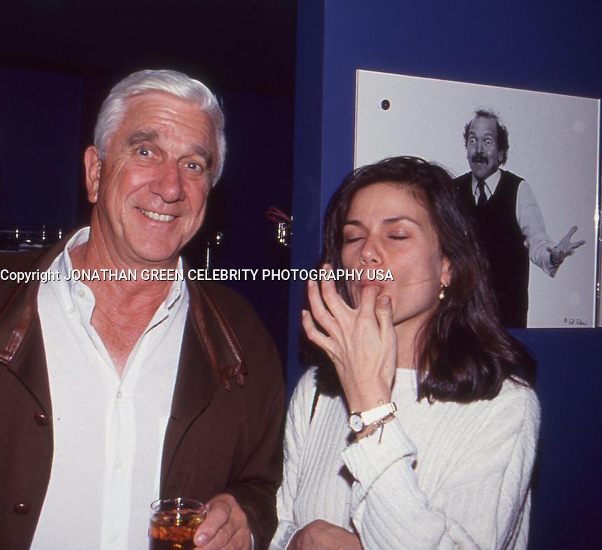 Leslie Nielsen & Linda Fiorentino 1992 by<br /> Jonathan Green