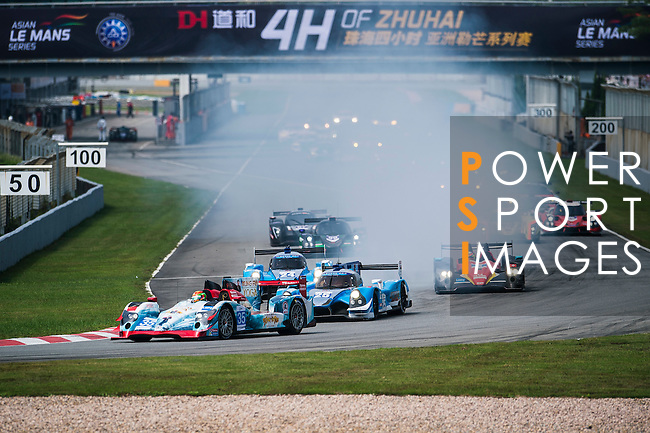 Jackie Chan DC Racing, #35 Oreca 03R Nissan, driven by Ho-pin Tung and Gustavo Menezes in action during the 2016-2017 Asian Le Mans Series Round 1 at Zhuhai Circuit on 30 October 2016, Zhuhai, China.  Photo by Marcio Machado / Power Sport Images