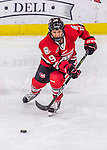 25 November 2016: Saint Cloud State Huskie Forward Payge Pena, a Senior from Maple Ridge, British Columbia, in 3rd period action against the University of Vermont Catamounts at Gutterson Fieldhouse in Burlington, Vermont. The Lady Cats defeated the Huskies 5-1 to take the first game of the 2016 Windjammer Classic Tournament. Mandatory Credit: Ed Wolfstein Photo *** RAW (NEF) Image File Available ***