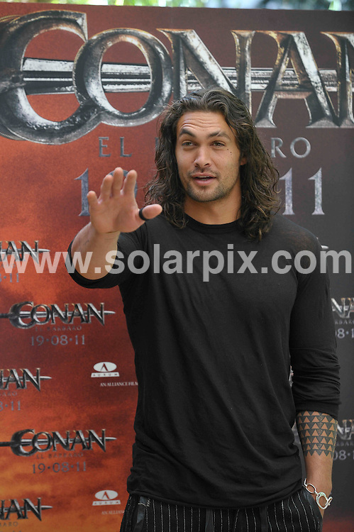 **ALL ROUND PICTURES FROM SOLARPIX.COM**                                             **WORLDWIDE SYNDICATION RIGHTS EXCEPT SPAIN - NO SYNDICATION IN SPAIN**                                                                                  Caption: Jason Momoa at a photo call for Conan The Barbarian, at the Villamagna Hotel in Madrid, Spain. 18 July 2011                                                                              This pic: Jason Momoa                                                                                             JOB REF: 13729 DMS Jesus       DATE: 18_07_2011                                                           **MUST CREDIT SOLARPIX.COM OR DOUBLE FEE WILL BE CHARGED**                                                                      **MUST AGREE FEE BEFORE ONLINE USAGE**                               **CALL US ON: +34 952 811 768 or LOW RATE FROM UK 0844 617 7637**