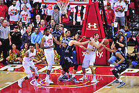 The Terrapins gets the defensive rebound. Maryland defeated Georgetown 75-71 during a game at Xfinity Center in College Park, MD on Wednesday, November 17, 2015.  Alan P. Santos/DC Sports Box