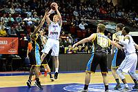 GRONINGEN - Basketbal, Donar - Den Helder Suns, Martiniplaza, Dutch Basketbal League,  seizoen 2018-2019, 27-11-2018,  Donar speler Jobi Wall legt aan voor een schot