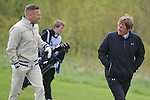 Wales Craig Bellamy chats to his old Gaffer Scotland's  Kenny Dalglish..Celebrity Cup at Golf Live  - Day 2 - Celtic Manor Resort - Saturday 11th  May  2013 - Newport ..© www.sportingwales.com- PLEASE CREDIT IAN COOK