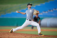 Samuel Simpson (12) of Carrollton High School in Carrollton, GA during the Perfect Game National Showcase at Hoover Metropolitan Stadium on June 17, 2020 in Hoover, Alabama. (Mike Janes/Four Seam Images)