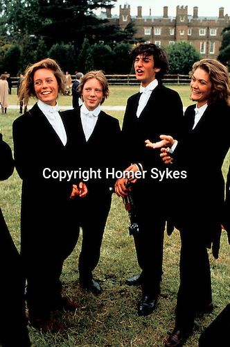ETON PUBLIC SCHOOL 550TH ANNIVERSARY GIRLS FROM MILLFORD WITH BROTHERS AT ETON, 1990<br />