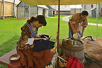 Inperiod costume at Fort Gibraltor. St. Boniface. <br /> Winnipeg<br /> Manitoba<br /> Canada